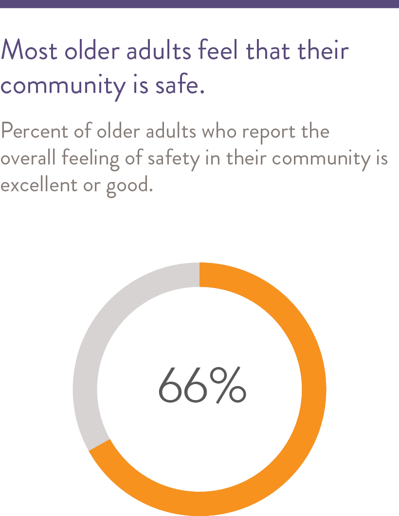 Most older adults feel that their community is safe.